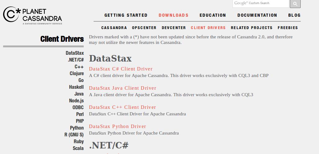 datastax-planetcassandra-drivers-cassandra